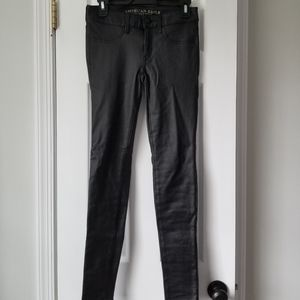American Eagle ae faux leather black pants nwt